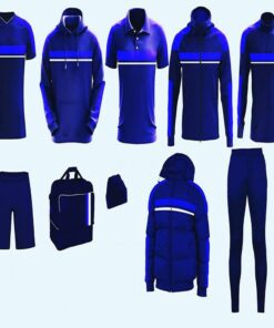 Dark and Light Blue with Panels Full Team Wear AFYM-9001