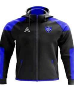 Black and Blue Rain Jacket with Arm Paneling AFYM-6004