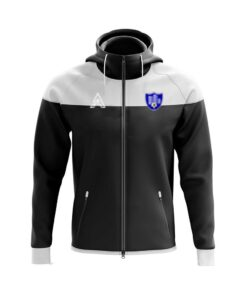 Black and White Rain Jacket with Center Panel AFYM-6000