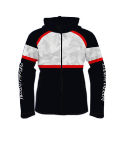 Black with Red Stone Shaded Sublimation Hoodie AFYM-5007