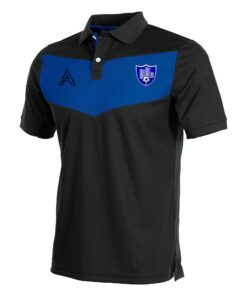 Custom Black and Blue with Center Panel Polo Shirt AFYM-4004