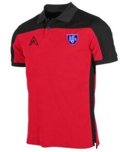 Custom Black and Red Polo Shirt AFYM-4001