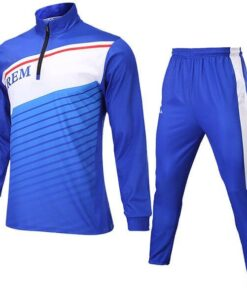 Blue with Multi Color Trimming Sublimation Tracksuit AFYM:1012