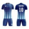Blue with Multi Dot Panels Sublimation Soccer Kits AFYM:2045