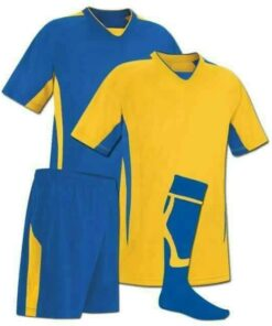Blue and Yellow Reversible Sublimation Soccer Uniform