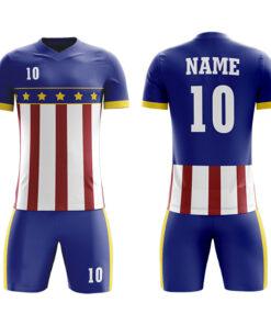 Custom Sublimation Soccer Kits with Flag Printing AFYM:2051