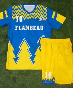 Sublimation Soccer Kits with Two Color Trimming AFYM:2052