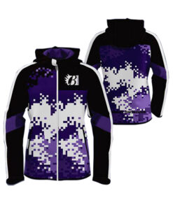 Purple with Multi Color Art Club Sublimation Hoodie AFYM-5014
