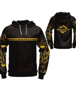 Black with Light Visible Art Sublimation Hoodie AFYM-5026