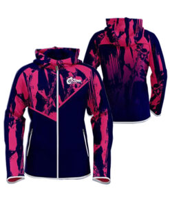 Blue with Pink Art Sublimation Hoodie AFYM-5020