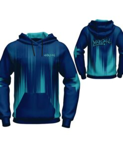 Sublimation Hoodie with Light Blue Trimming Art AFYM-5028
