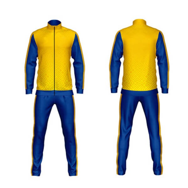Sublimation Tracksuits with Yellow and Blue Color AFYM:1038