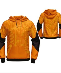 Yellow with Light Visible Art Sublimation Hoodie AFYM-5027