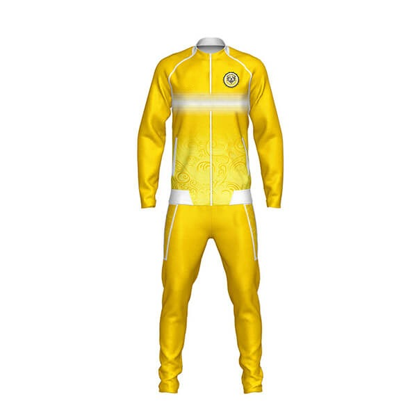 Yellow with White Art Sublimation Tracksuits For Club AFYM:1034