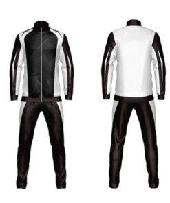 Custom Black and White Shaded Sublimation Tracksuit AFYM:1041