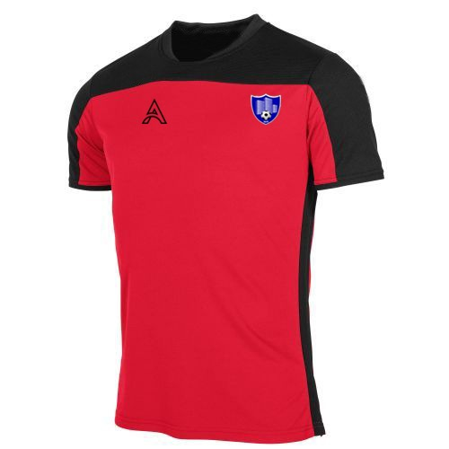 Custom Black and Red Paneling T-Shirt AFYM:3014