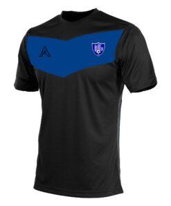 Custom Black with Blue Center Panel T-Shirt AFYM:3012