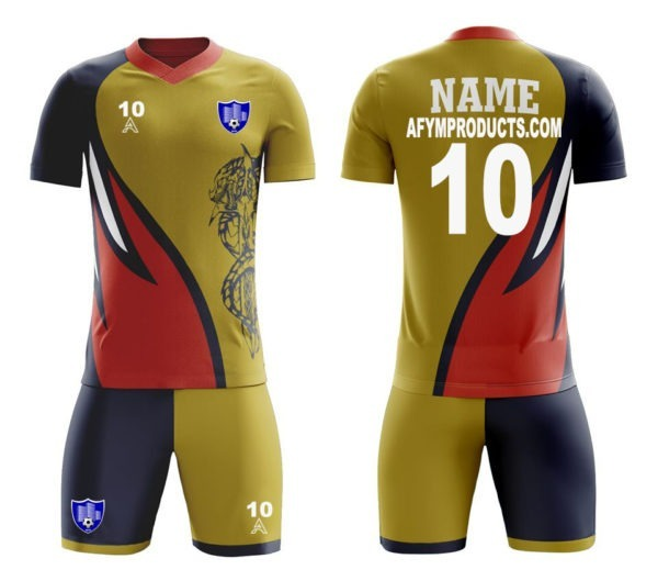Sublimation Soccer Kits with Animal Icon AFYM:2081