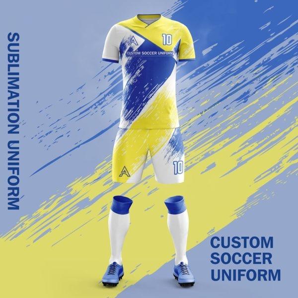 Sublimation Soccer Uniform For Club Team AFYM:2085